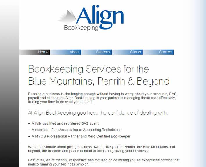 Align Bookkeeping Website