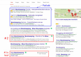 Local SEO - Blue Mountains Bookkeeping
