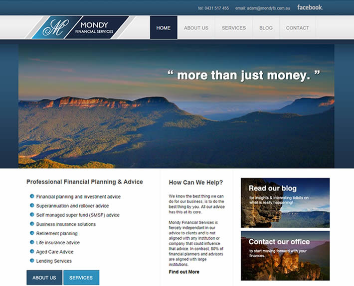 Local SEO blue mountains financial advisors