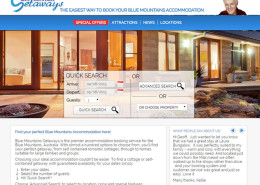 Blue Mountains Getaways website