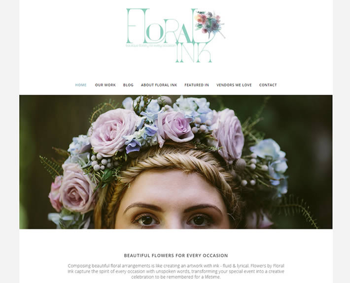 Blue Mountains florist Floral Ink's website