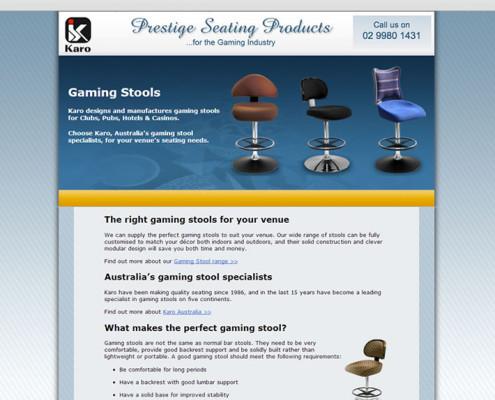 1-page gamingstools.com.au site