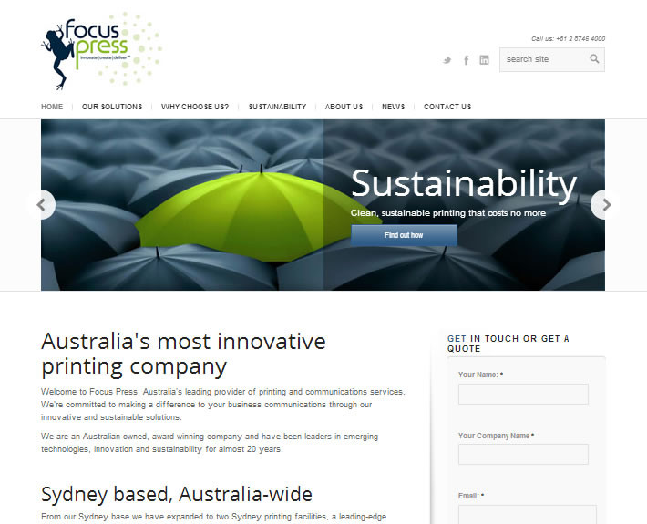 Focus Press is a Sydney printing company
