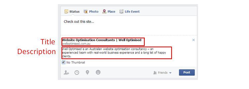 social media metadata optimisation