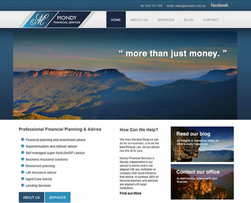 Local SEO blue mountains financial advisors