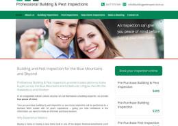 Blue Mountains Building & Pest Inspections website