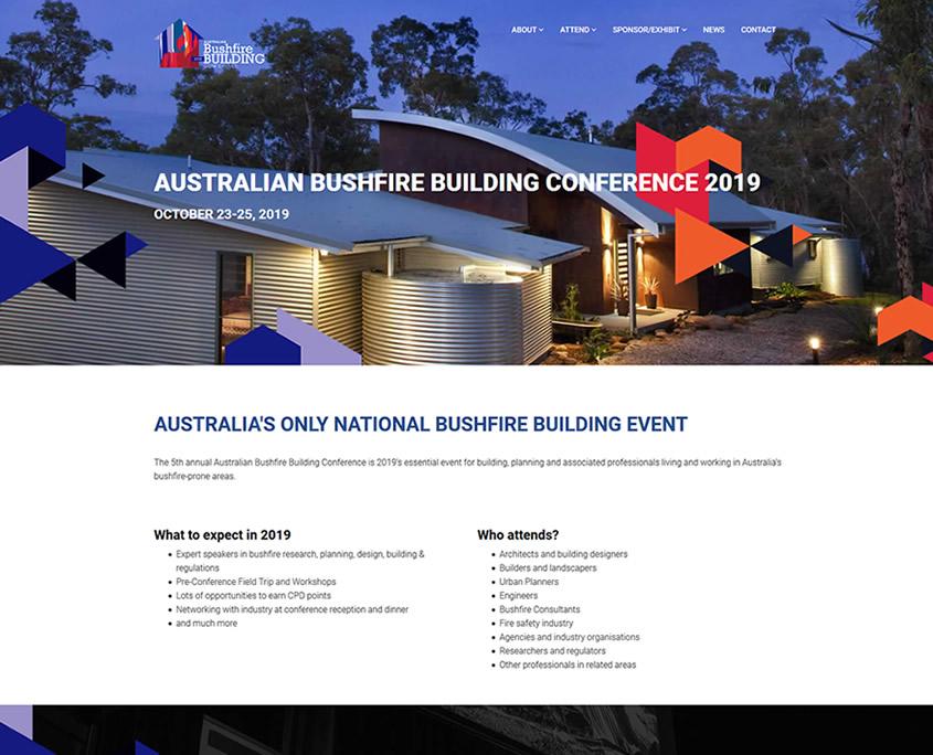 Bushfire Conference website