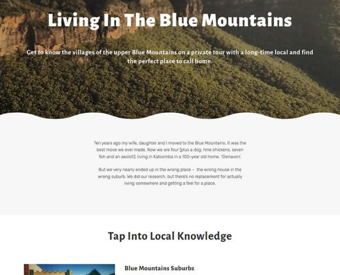 living in the blue mountains